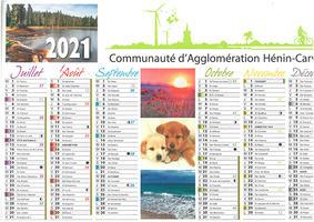 Distribution du calendrier 2021 Agglo et Coved / Déchets